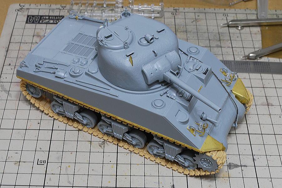 M4A2シャーマン戦車 ドラゴン 1/35 組立完了