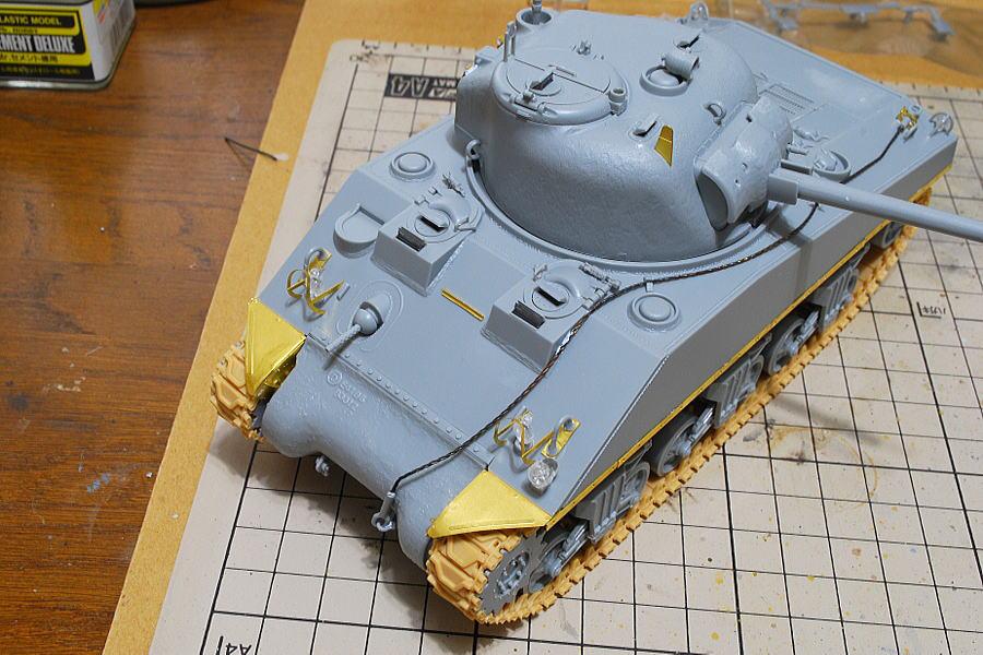 M4A2シャーマン戦車 ドラゴン 1/35 塗装
