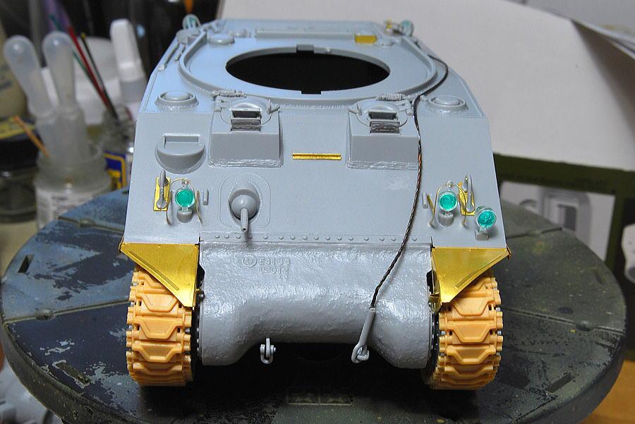 M4A2シャーマン戦車 ドラゴン 1/35 マスキングゾル
