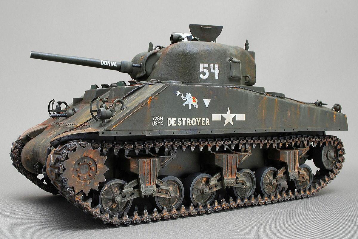 M4A2シャーマン戦車 ドラゴン 1/35 組立と塗装・製作記・完成写真