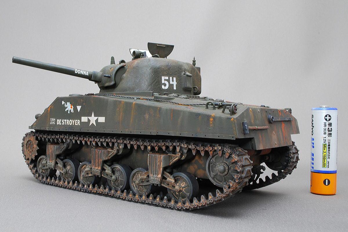 M4A2シャーマン戦車 ドラゴン 1/35 完成写真 ウェザリング
