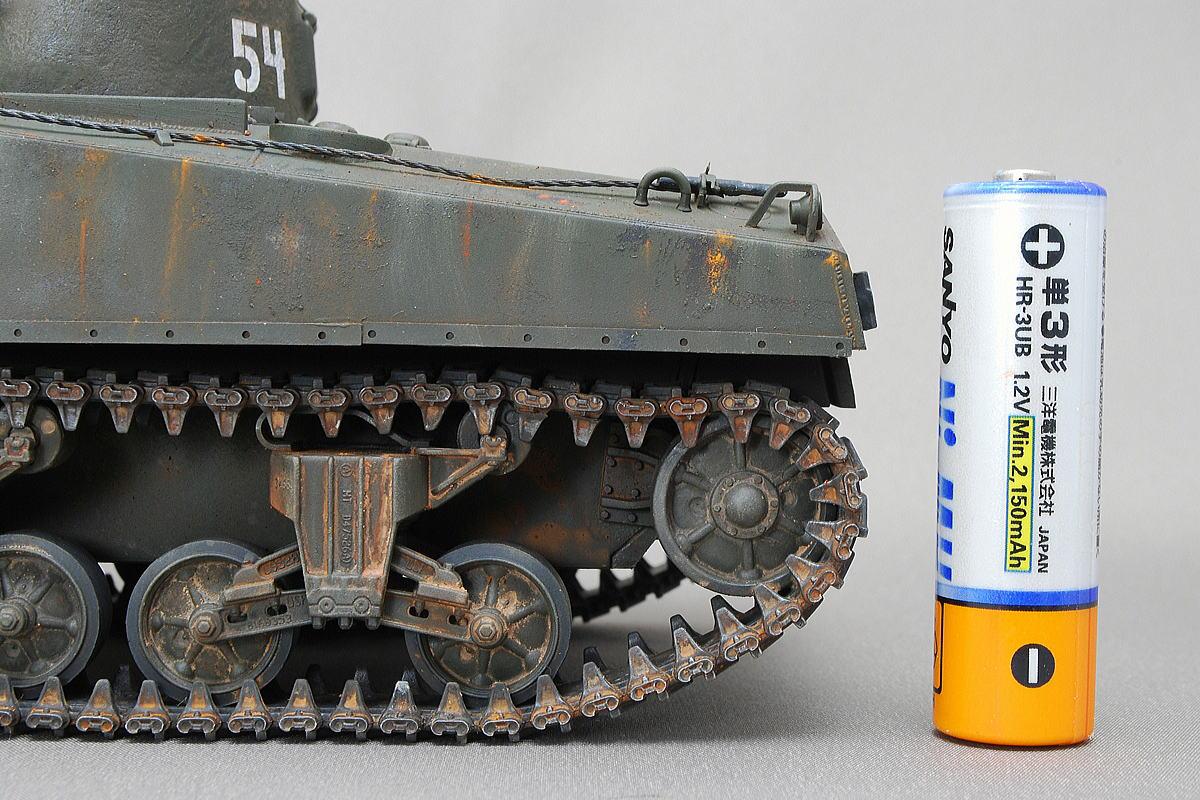M4A2シャーマン戦車 ドラゴン 1/35 完成写真 ベルトキャタピラ
