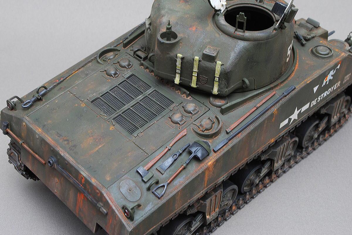 M4A2シャーマン戦車 ドラゴン 1/35 完成写真