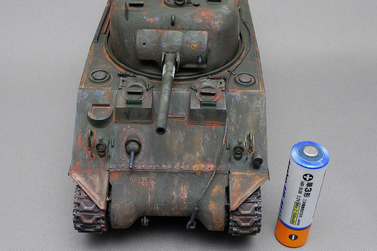 M4A2シャーマン戦車 ドラゴン 1/35 完成写真 ライトガードが薄いエッチング