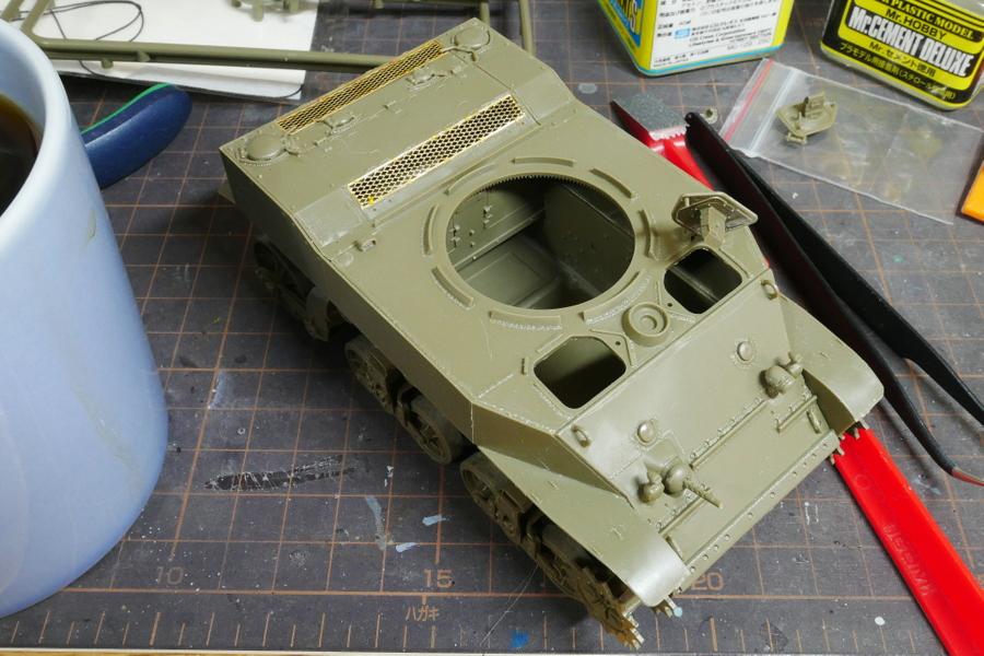 M5A1 スチュアート 米第3装甲師団 AFVクラブ 1/35 組立