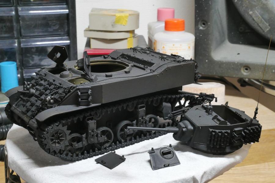 M5A1 スチュアート 米第3装甲師団 AFVクラブ 1/35 塗装