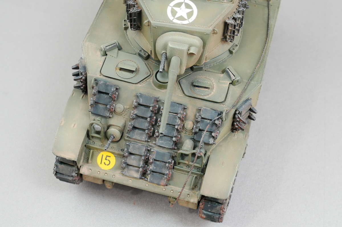 M5A1 スチュアート 米第3装甲師団 AFVクラブ 1/35 完成写真
