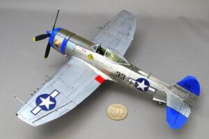 リパブリック サンダーボルト P-47N レベル 1/48 一通りパネルラインのモールドを掘り直し