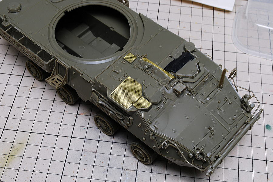 M1128 MGSストライカー AFVクラブ 1/35 防塵フィルターのエッチングパーツ
