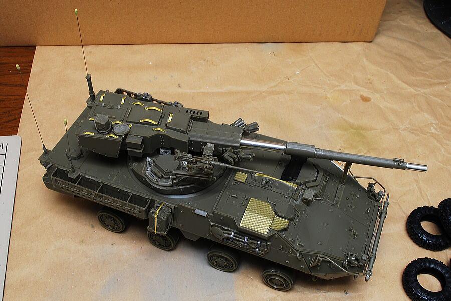 M1128 MGSストライカー AFVクラブ 1/35 組立完了