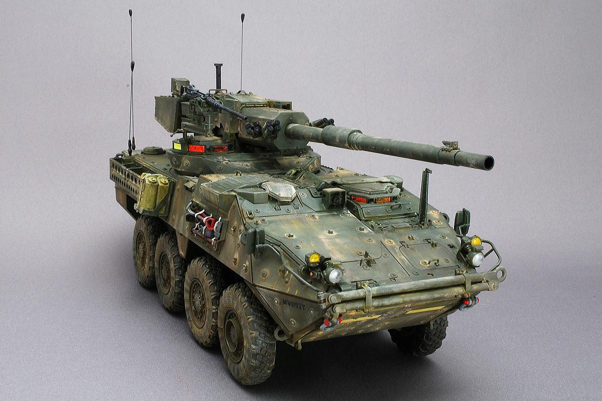 M1128 MGSストライカー AFVクラブ 1/35 完成写真 総重量は20トン以下