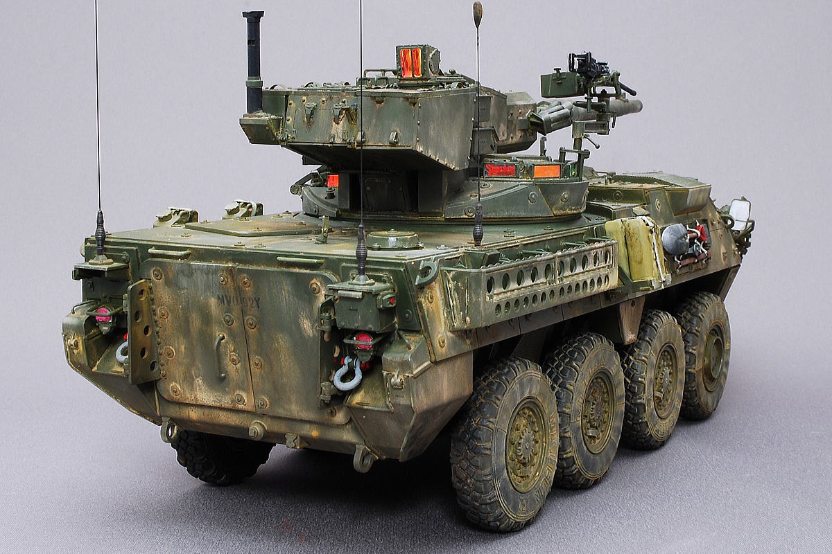 M1128 MGSストライカー AFVクラブ 1/35 完成写真 イラク戦争に投入