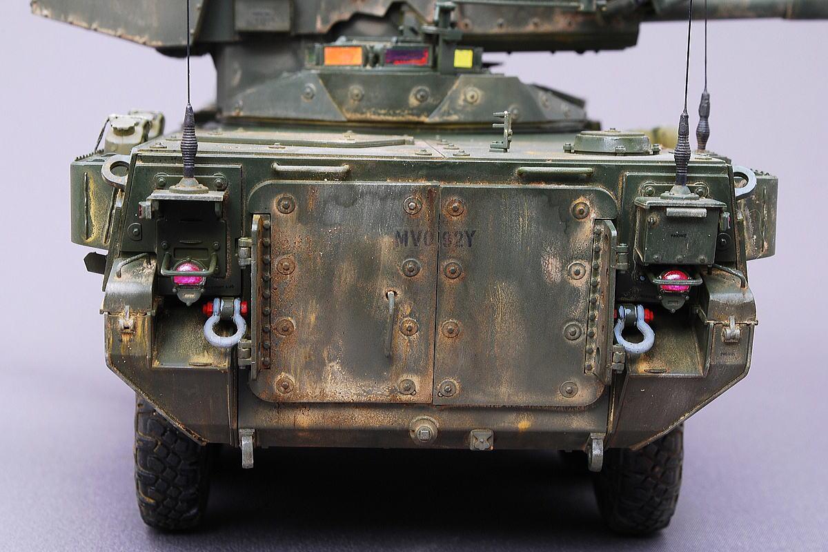 M1128 MGSストライカー AFVクラブ 1/35 完成写真 クリアーレッド