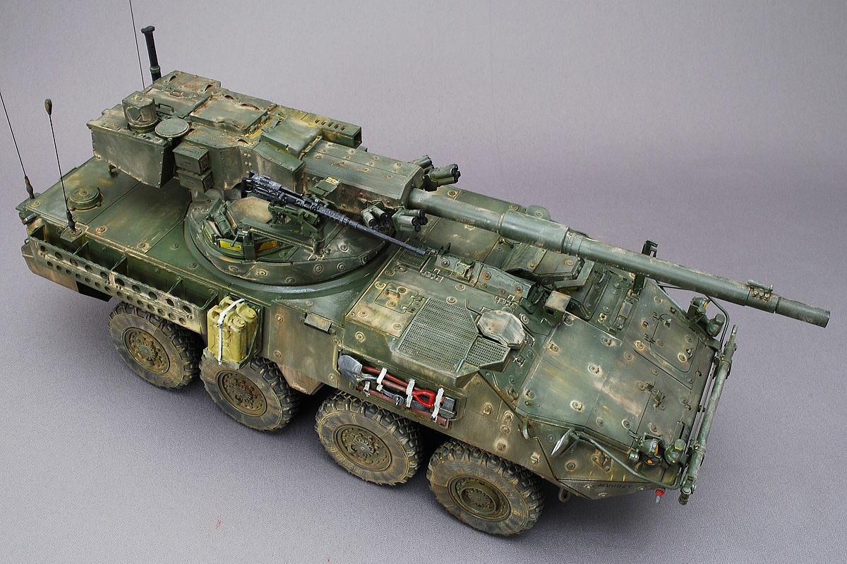 M1128 MGSストライカー AFVクラブ 1/35 完成写真 ウェザリング