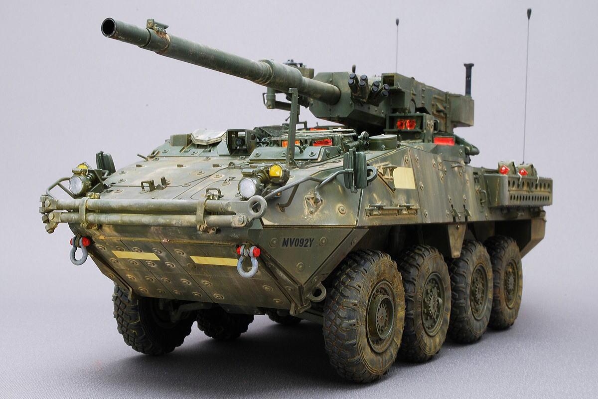 M1128 MGSストライカー AFVクラブ 1/35 完成写真 組立と塗装