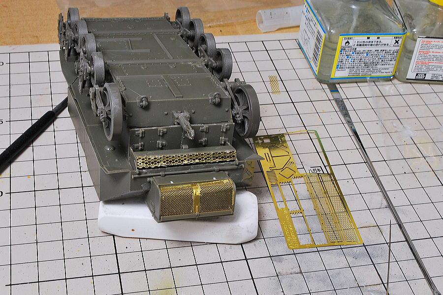 M5A1 スチュアート AFVクラブ 1/35 エッチングパーツの金網がリアル