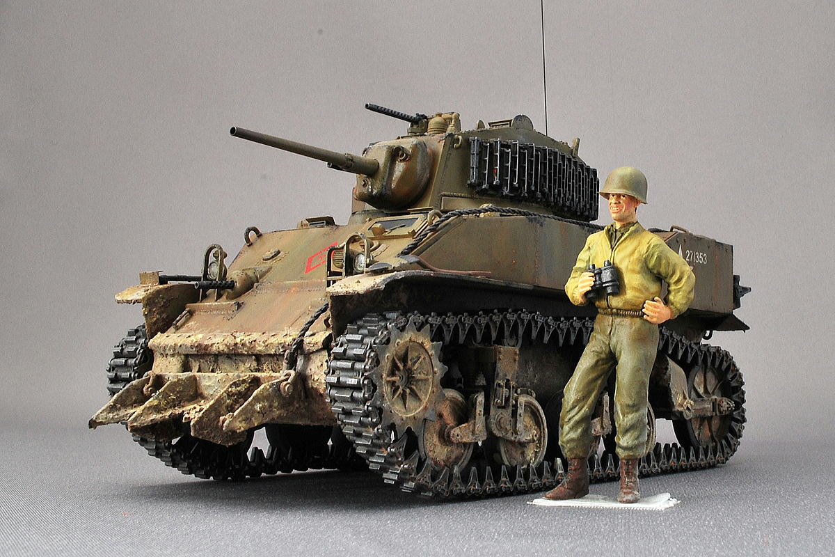 M5A1 スチュアート AFVクラブ 1/35 完成写真 アメリカ軍戦車兵