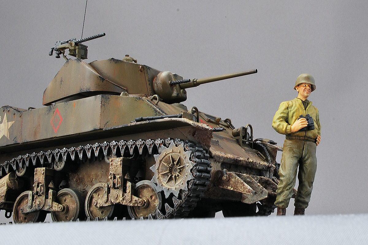 M5A1 スチュアート AFVクラブ 1/35 完成写真 アメリカ軍戦車兵フィギュア