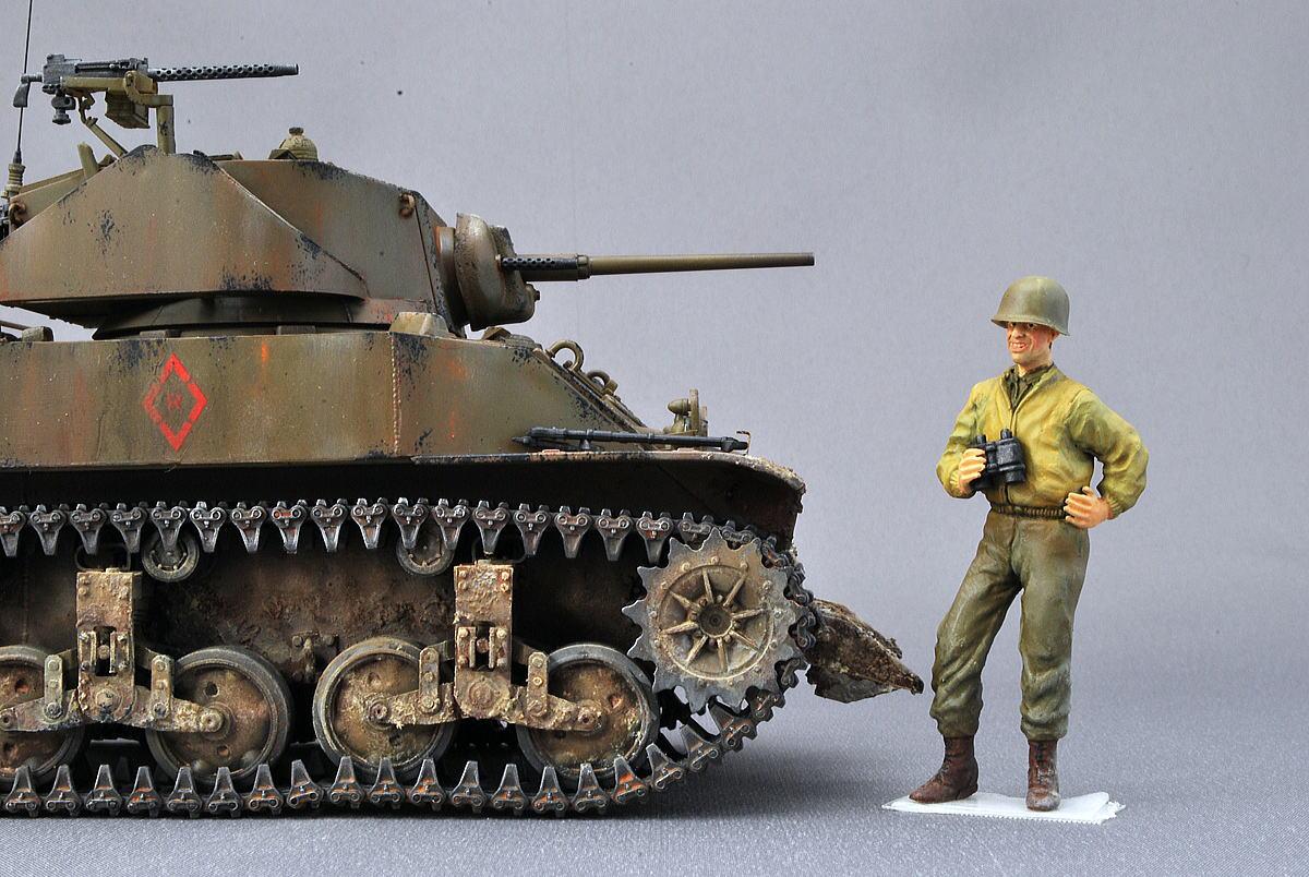 M5A1 スチュアート AFVクラブ 1/35 完成写真 アメリカ軍軽戦車の塗装