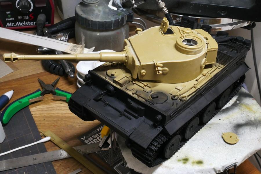 ドイツ重戦車 タイガーI 極初期型 アフリカ仕様 タミヤ 1/35 塗装