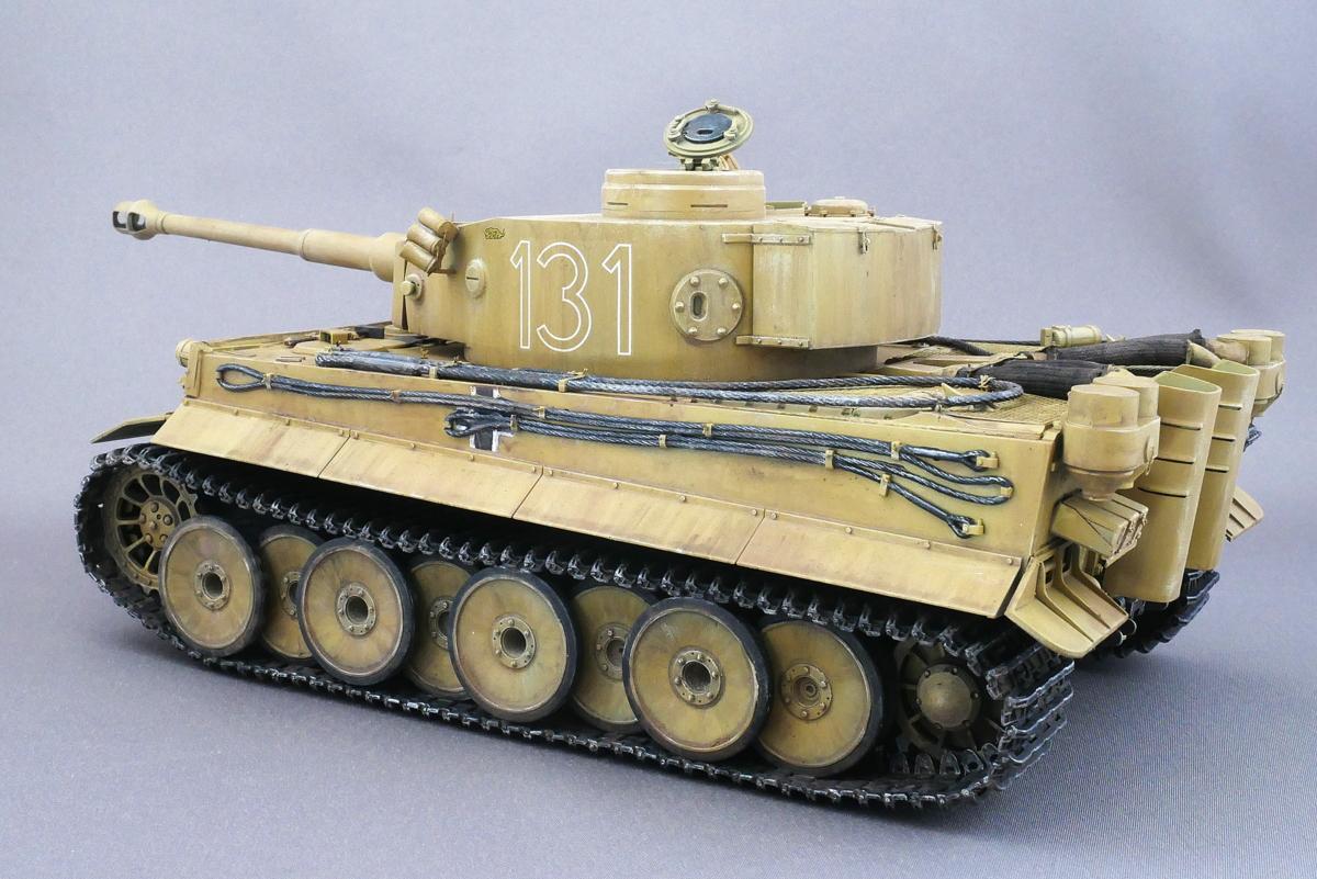 ドイツ重戦車 タイガーI 極初期型 アフリカ仕様 タミヤ 1/35 完成写真