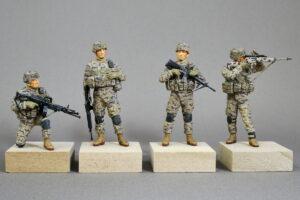 アメリカ現用陸軍 中東拠点警備 フル装備 マスターボックス 1/35 完成写真