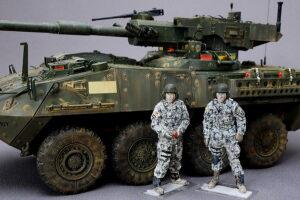 アメリカ軍現用AFVクルー アルパイン 1/35 ストライカー装甲車とアメリカ軍戦車兵