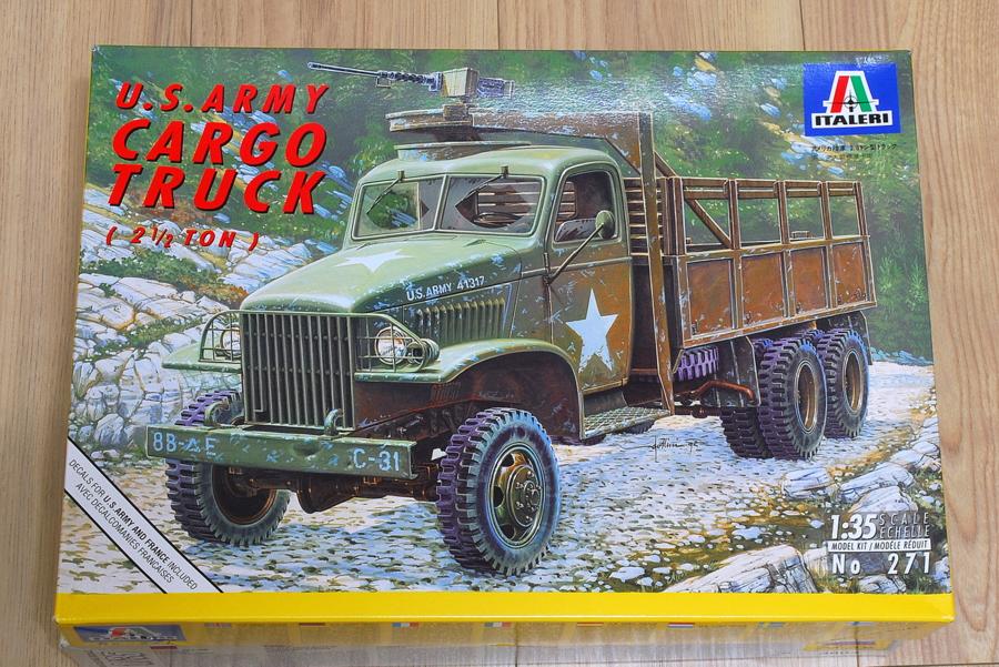 2.5トン カーゴトラック 6 x 6 イタレリ 1/35 箱絵 ボックスアート