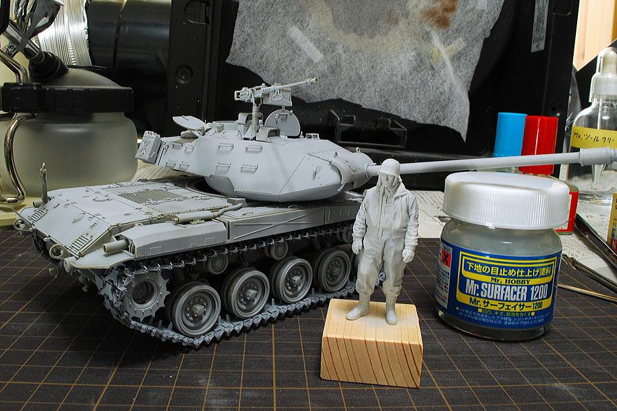 M41A3 ウォーカー・ブルドッグ AFVクラブ 1/35 塗装 サーフェイサー