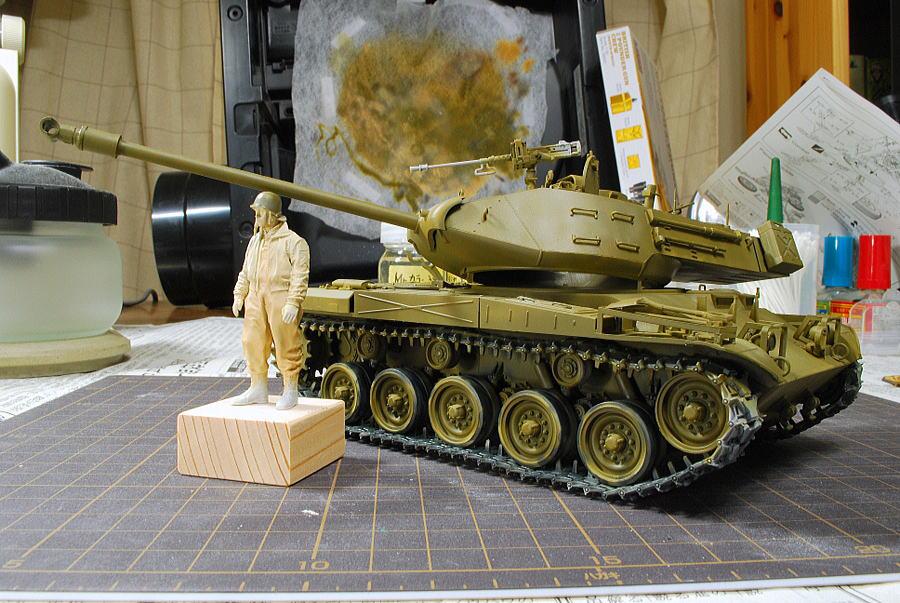 M41A3 ウォーカー・ブルドッグ AFVクラブ 1/35 塗装 オリーブドラブ塗装