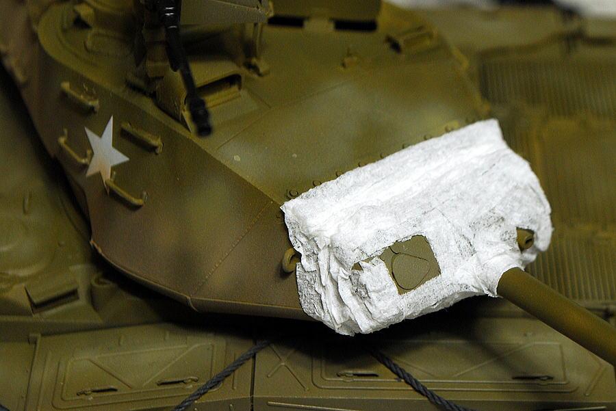 M41A3 ウォーカー・ブルドッグ AFVクラブ 1/35 ティッシュで防盾カバー