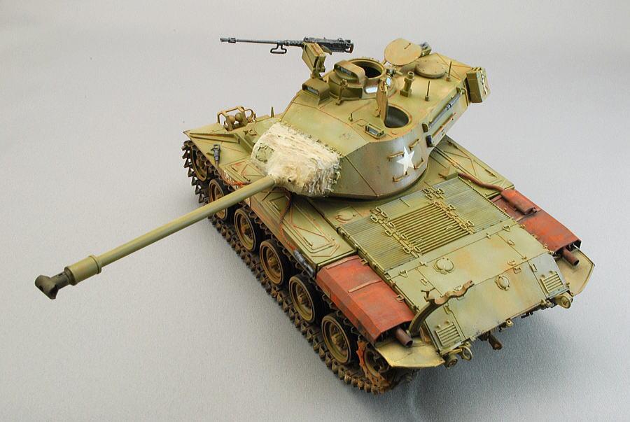 M41A3 ウォーカー・ブルドッグ AFVクラブ 1/35 完成写真 60口径76.2mm砲とT型マズルブレーキ