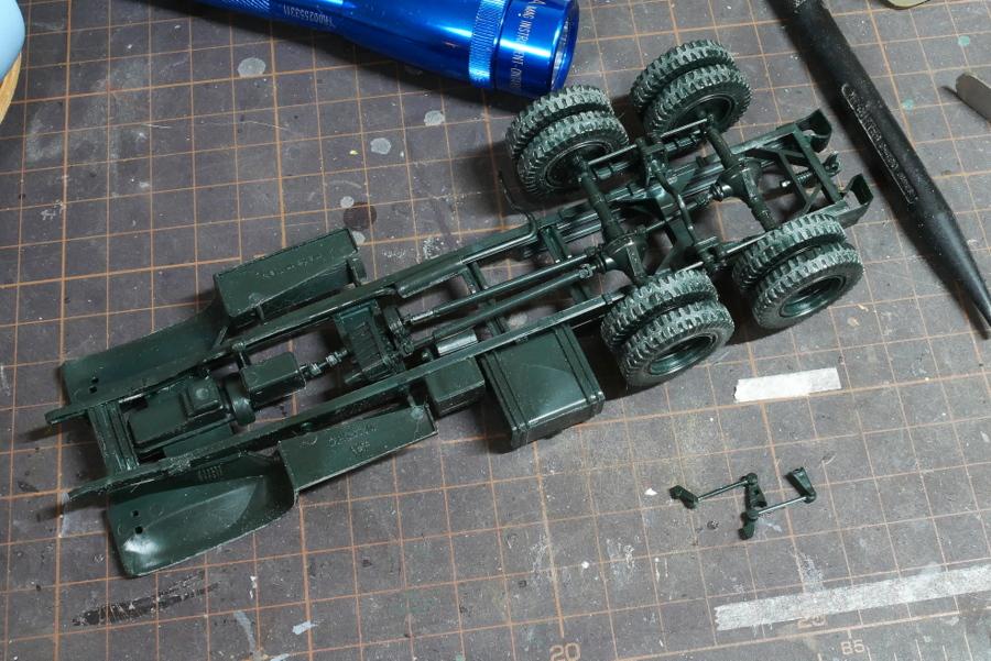 アメリカ軍 2 1/2トン 6×6 ウォータータンクトラック イタレリ 1/35 組立