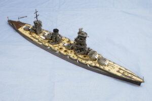 戦艦山城 1944 アオシマ 1/700 完成写真
